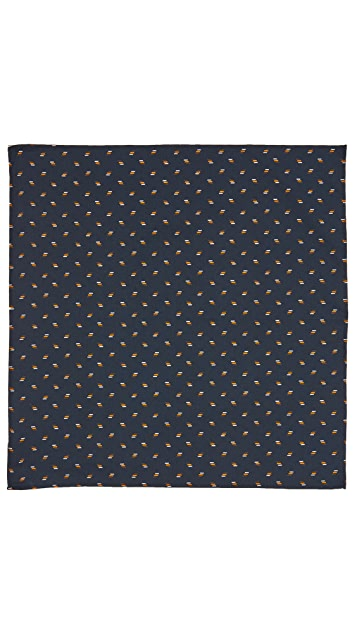 Thomas Mason Lines Pocket Square