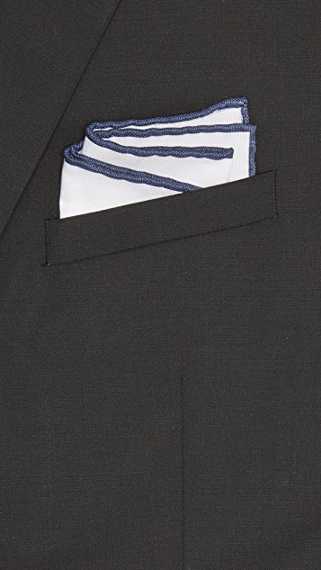 Thomas Mason Trim Pocket Square