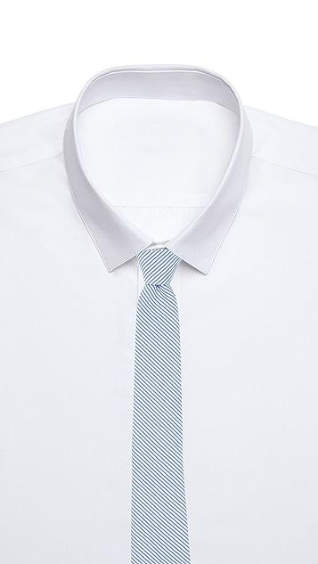 Thomas Mason Seersucker Stripe Tie
