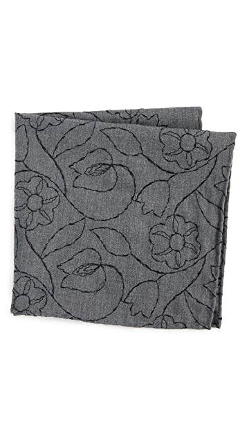 Thomas Mason Floral Pocket Square