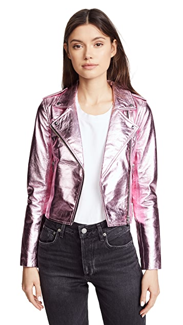 The Mighty Company Lecce Biker Crop Jacket