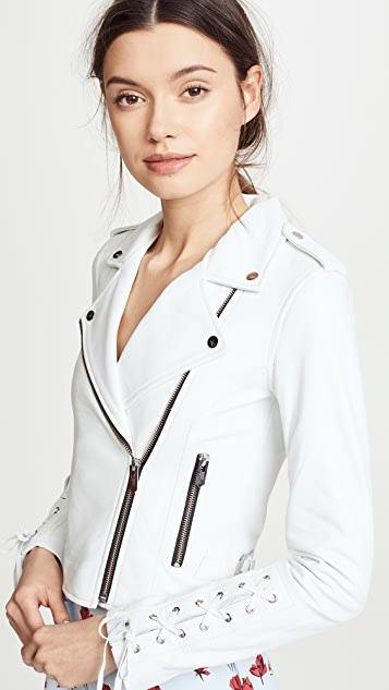 The Mighty Company Florence Biker Crop Jacket
