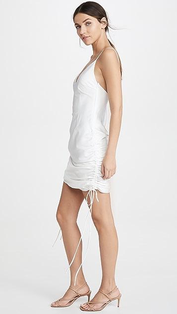 老虎雾白色 Alfie 连衣裙