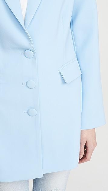 老虎雾白色 Avanti 西装外套