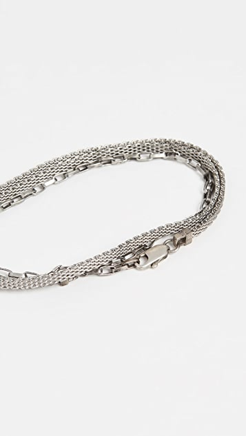 The Monotype The Ausin Double Wrap Micro Mesh Chain Bracelet