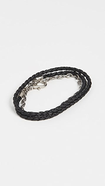 The Monotype The Benjamin Double Wrap Vegan Leather Bracelet