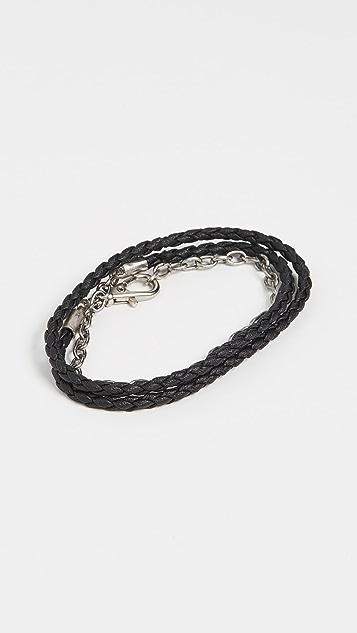 The Monotype The Benjamin Double Wrap Vegan Leather Bracelet