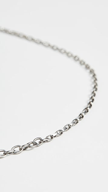 The Monotype The Nicholas Small Anchor and Chain Necklace