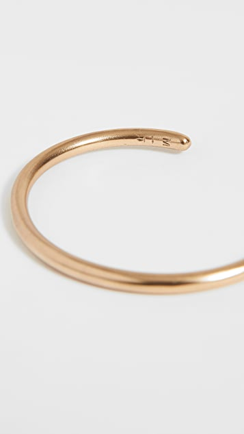 The Monotype The Cameron Solid Hard Rounded Cuff