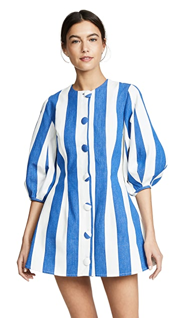 Tata Naka Balloon Sleeve Button Down Mini Dress