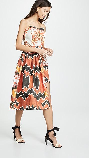 Tata Naka Strapless Mini Dress with Wrap