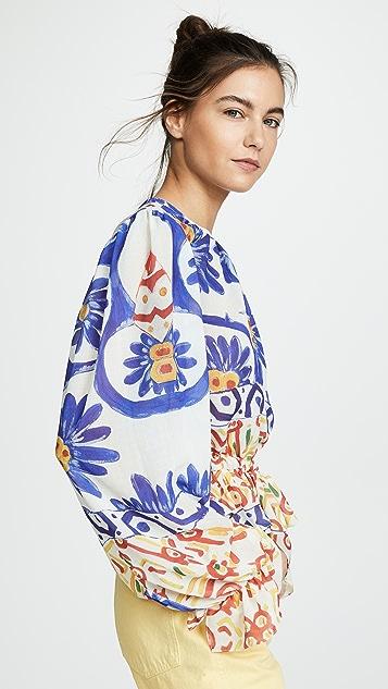 Tata Naka 流苏边女式衬衫
