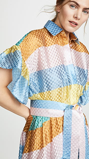Tata Naka Rainbow Shirtdress