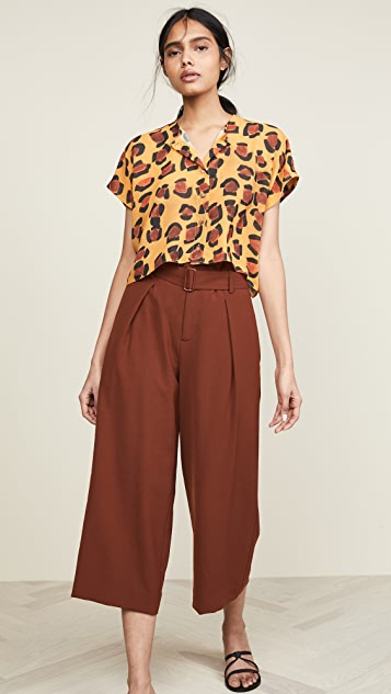 Tata Naka Leopard Print Crop Top