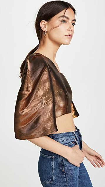 Tata Naka Crop Top with Puff Sleeves