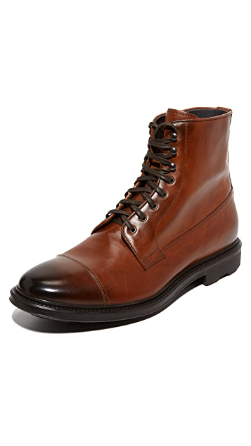To Boot New York Neils Leather Cap Toe Boots