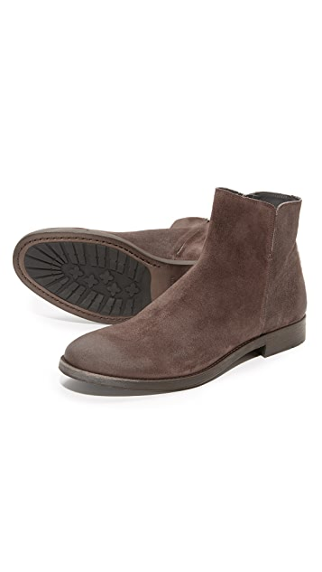 To Boot New York Arthur Suede Side Zip Boots