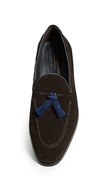 To Boot New York Devon Contrast Drop Tassel Loafers