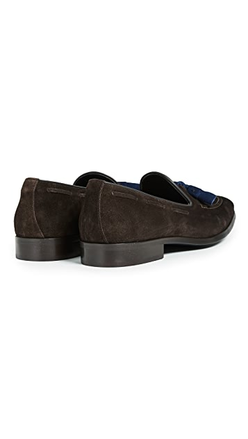 To Boot New York Devon Contrast Drop Tassel Loafers