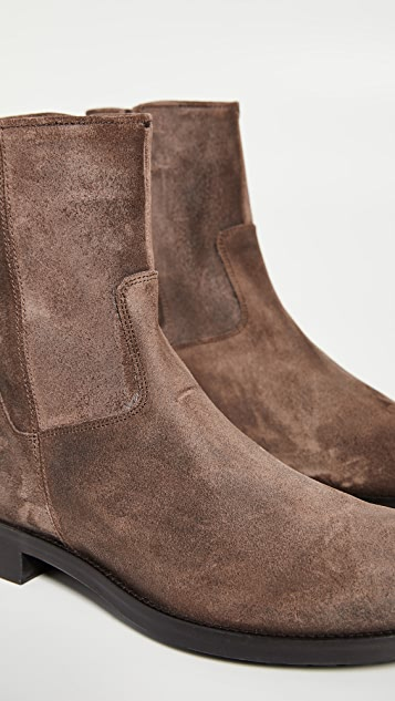 To Boot New York Cardiff Suede Side Zip Boots