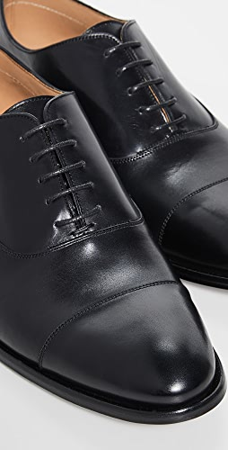 To Boot New York - Forley Flex Black Cap Toe Shoes