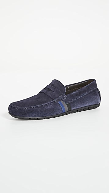 To Boot New York Ocean Drive Striped Suede Drivers