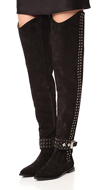 Toga Pulla Thigh High Rivet Boots