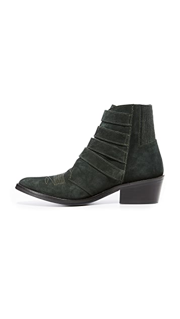 Toga Pulla Western Buckle Booties