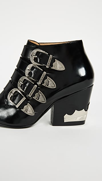 Toga Pulla Heeled Buckled Booties