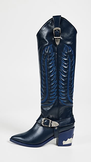 Toga Pulla Tall Buckled Boots