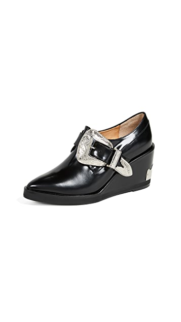 Toga Pulla Buckled Wedge Oxford Shoes