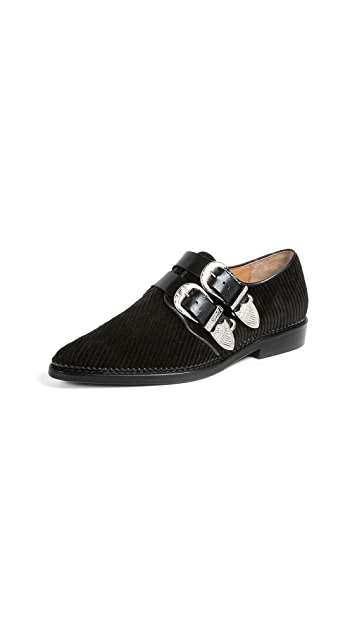 Toga Pulla Buckled Oxford Flats