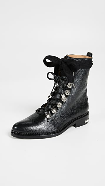 Toga Pulla Lace Up Combat Boots
