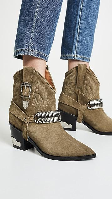 Toga Pulla Ковбойские ботинки с ремнями