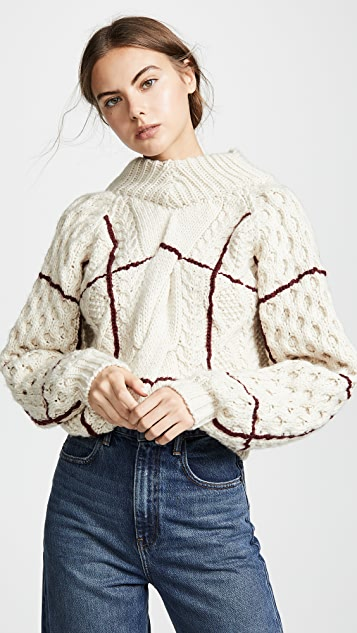 Toga Pulla Back Lace Pullover