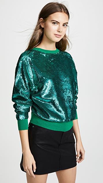 Toga Pulla Sequin Open Back Sweater