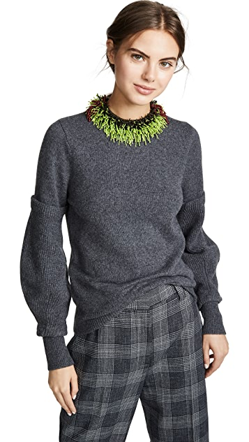 Toga Pulla Beads Knit Pullover