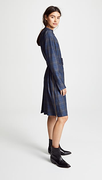 Toga Pulla Wool Check Dress