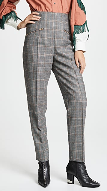 Toga Pulla Wool Check Tapered Pants