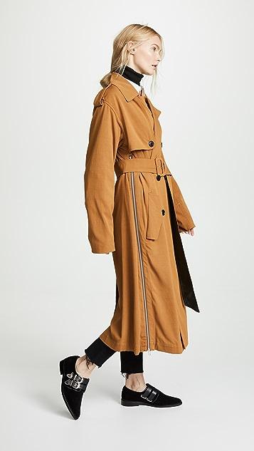 Toga Pulla Rayon Twill Trenchcoat