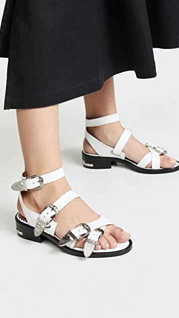 Toga Pulla Buckle Strap Sandals