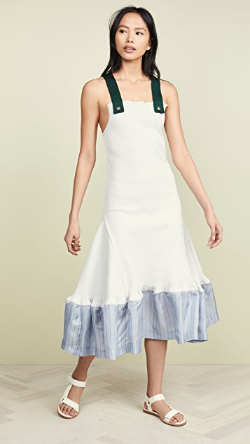Toga Pulla Меланжевое платье в рубчик