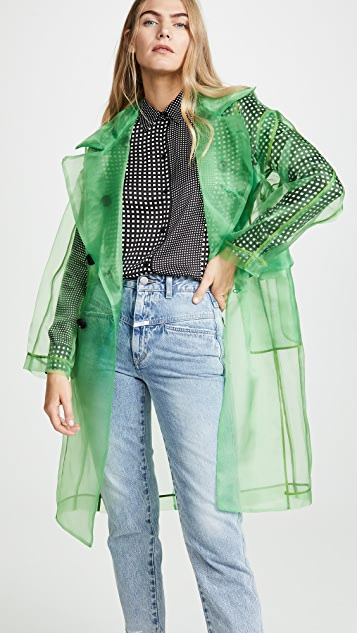 Toga Pulla Organza Trench Coat - Light Green