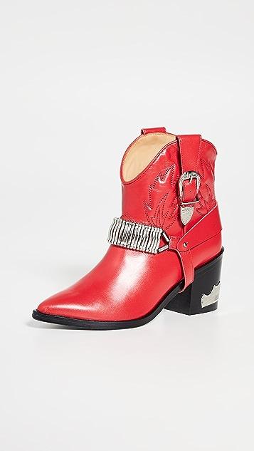 Toga Pulla 饰带牛仔靴