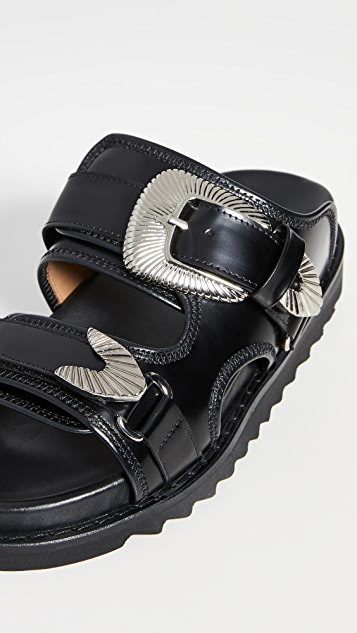 Toga Pulla Two Band Buckle Slides