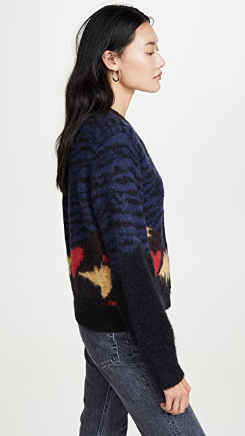 Toga Pulla Animal Jacquard Knit Cardigan