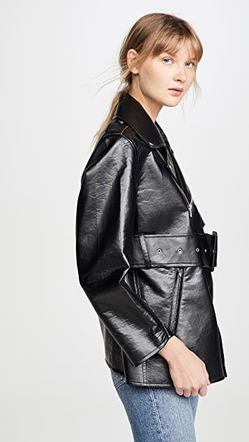 Toga Pulla Faux Leather Bonding Jacket