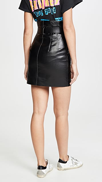 Toga Pulla Faux Leather Skirt