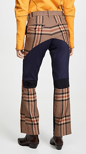 Toga Pulla Wool Check Biker Pants