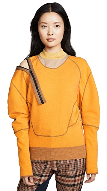 Toga Pulla Pile knit zip pullover